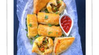 Quick Vegetable Puff Recipe (Indian Curry Puff) #curry