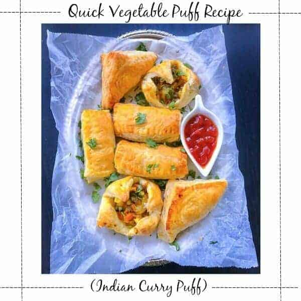 Quick Vegetable Puff Recipe: Indian Curry Puffs #currypuff #curry #gameday #indianfood #vegetablepuff