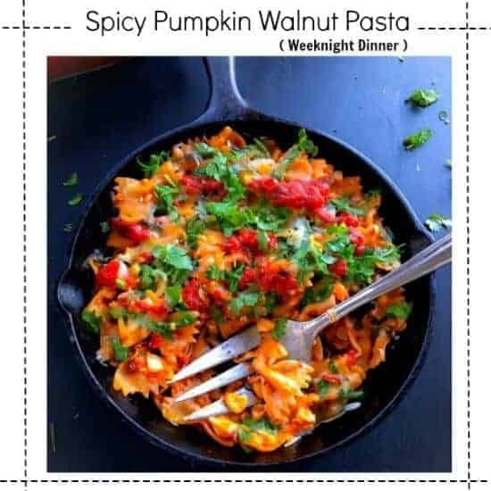 Spicy Pumpkin Walnut Pasta
