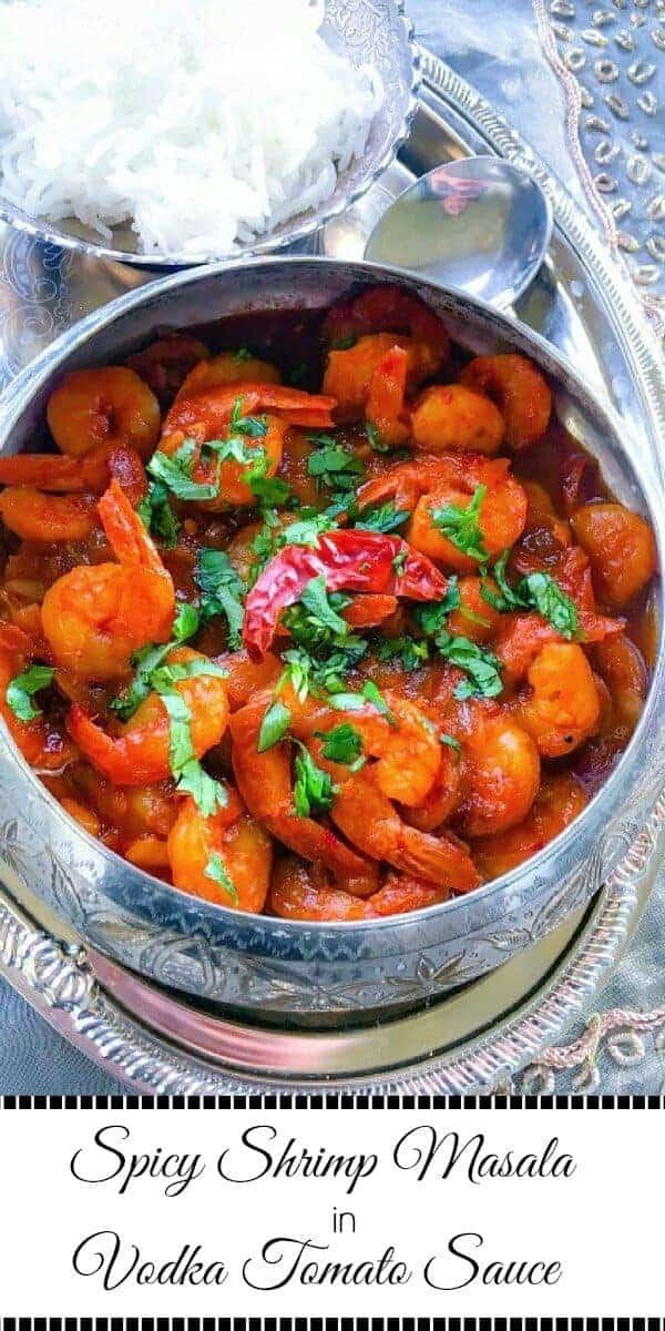 Spicy Shrimp Masala in Vodka Tomato Sauce : #spicy #shrimp #vodka #thanksgiving #glutenfree