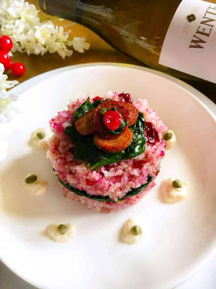 Cranberry and Turkey Risotto in Brown Butter Sauce