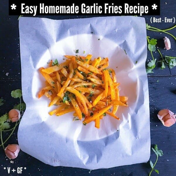 Homemade Garlic Fries recipe