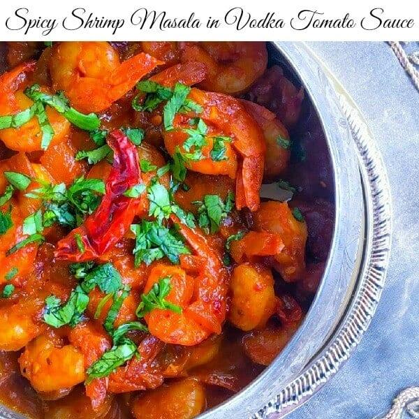 spicy vodka shrimp masala recipe