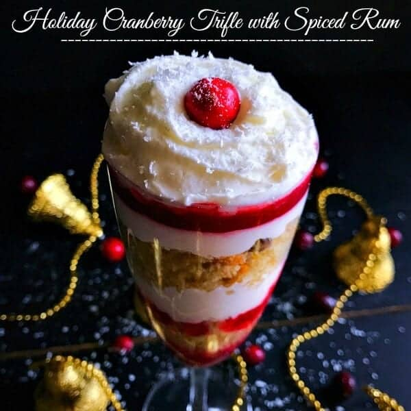 Spiced Rum Cranberry Trifle