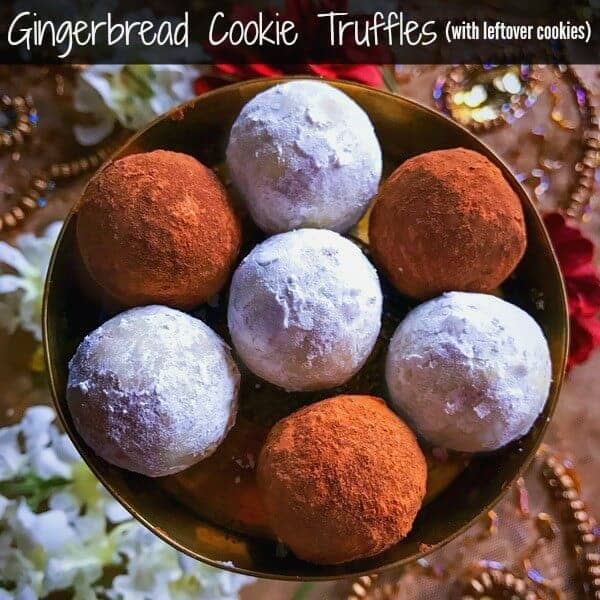 Gingerbread Cookie Truffles (with leftover cookies)