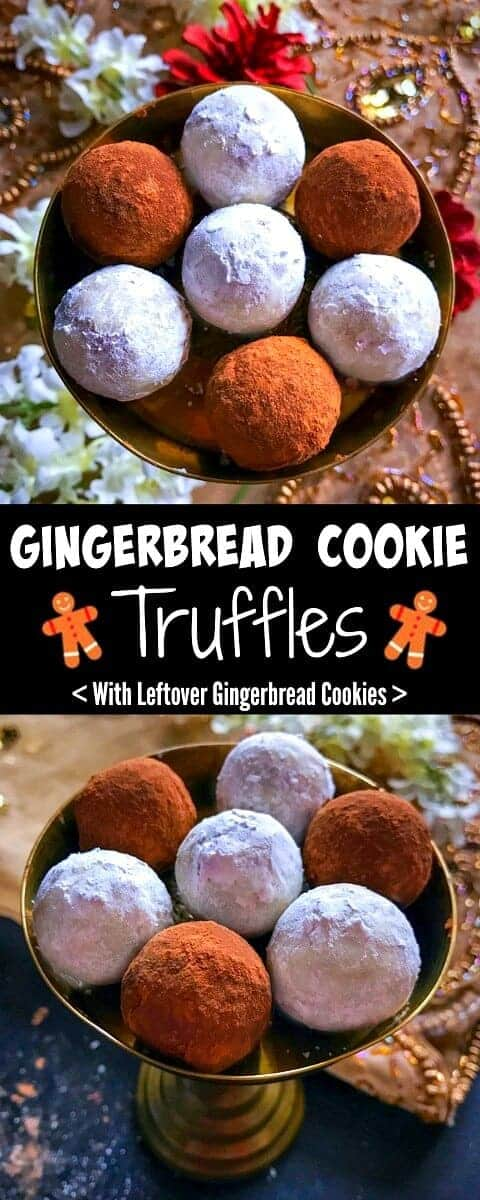 Gingerbread Cookie Truffles (with leftover cookies) : #gingerbread #cookies #truffle #chocolate