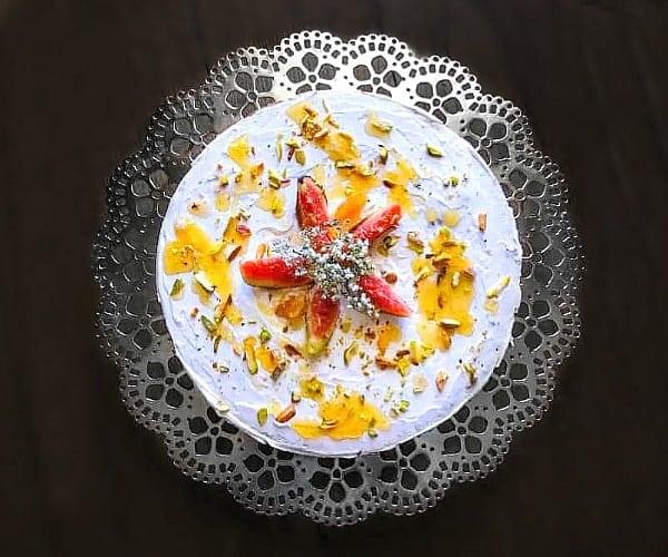 Moist Fig Honey Cake recipe using yogurt, olive oil