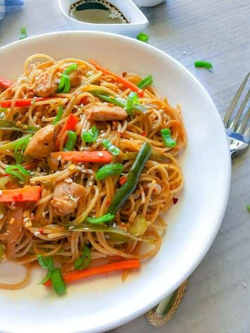 Indian chicken chowmein recipe