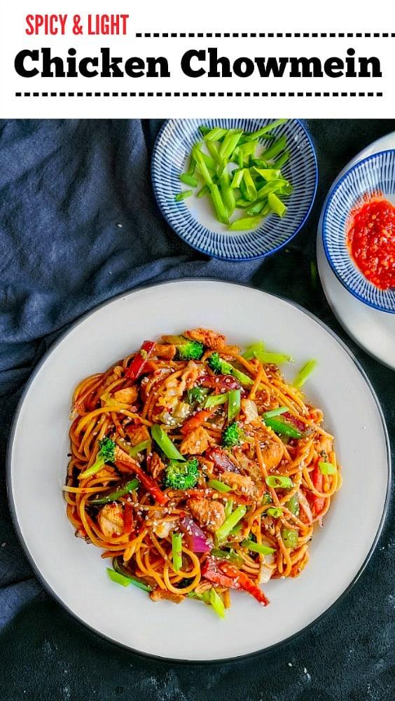 SPICY Chicken Chow Mein Recipe - Chicken Lo Mein Recipe