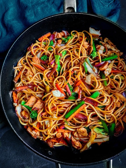 how to make chicken lo mein recipe