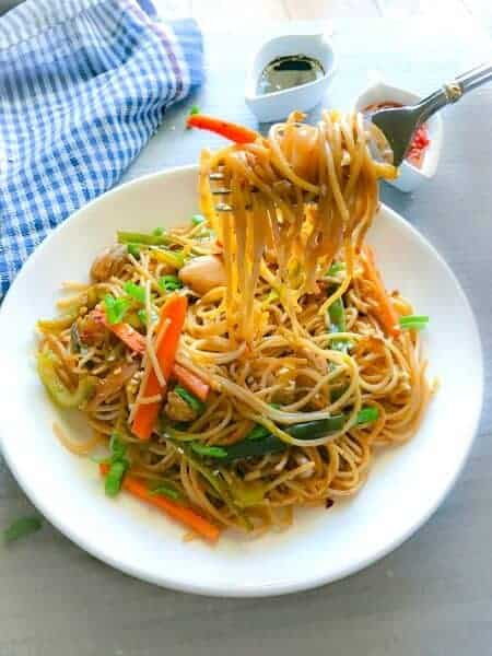 lighter chicken chow mein or lo mein recipe