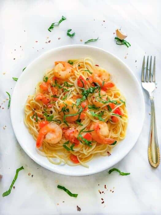 quick shrimp pasta homemade recipe
