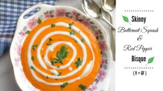 Skinny Butternut Squash and Red Pepper Bisque (Vegan & Glutenfree)