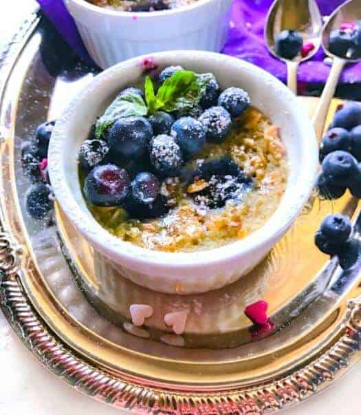 Blueberry Peanut Butter and Jelly Oatmeal (Microwaveable + Vegan)