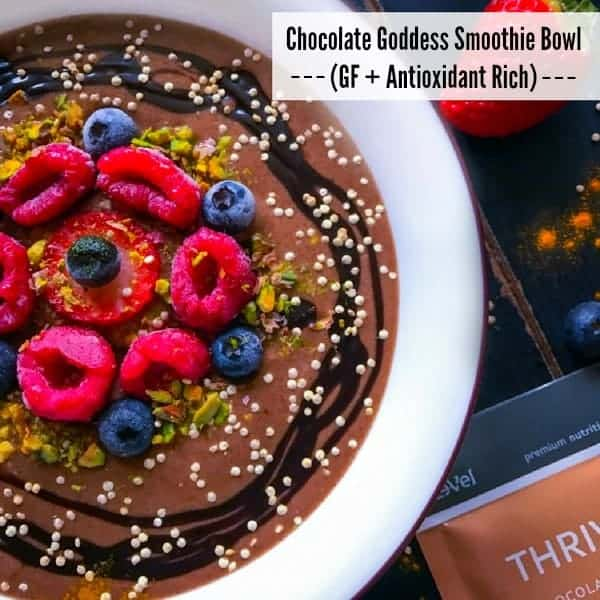 Chocolate Goddess Smoothie Bowl (GF + Antioxidant Rich)