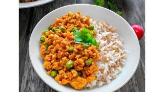Quick Curried Turkey Rice Bowl (using Ground Turkey) #ketorecipe