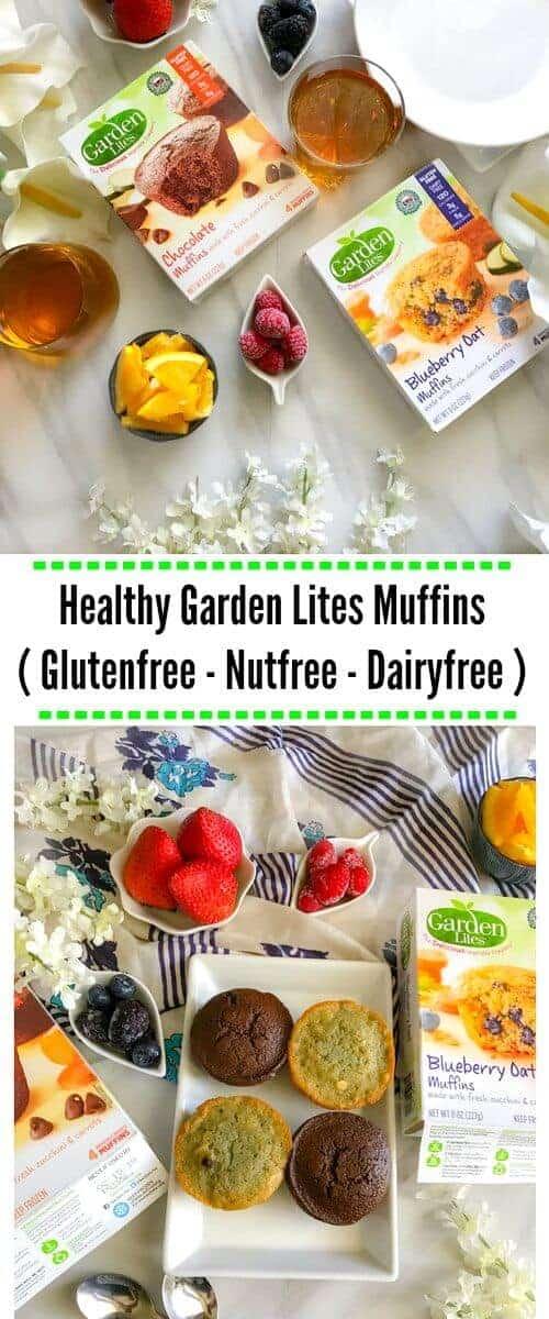 Healthy Garden Lites Muffins ( Glutenfree - Nutfree - Dairyfree ) #hookedonveggies @gardenlites #kids #muffins #chocolate