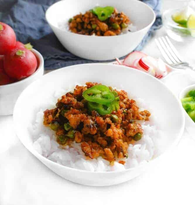 healthy-buddha-rice-bowl #turkey #keema