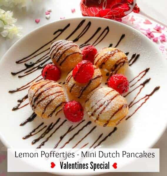 Lemon Poffertjes - Mini Dutch Pancakes (Valentines Special)