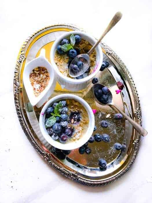 Blueberry, Peanut Butter and Jelly Oatmeal