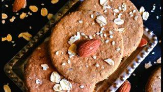 Healthy Digestive Biscuit Recipe (Oats, Almond & Sesame)