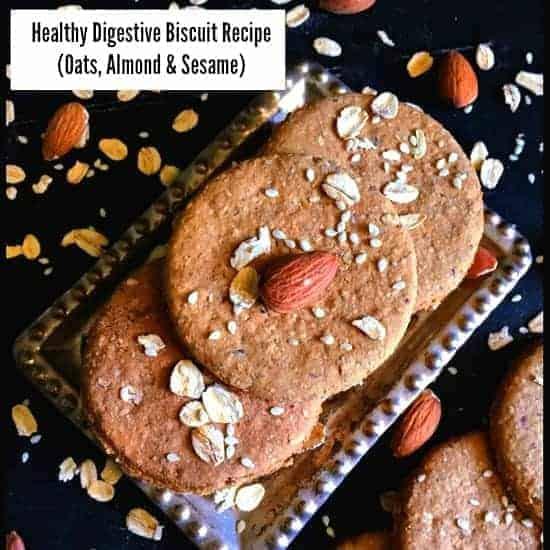 Eggless Digestive Biscuit Recipe - Digestive Biscuit