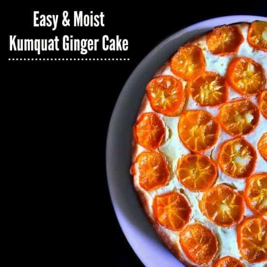 Moist Kumquat Ginger Cake