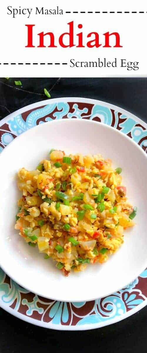 Quick and Spicy Masala Indian Scrambled Egg: #scrambled #Indian #egg #recipe #masala