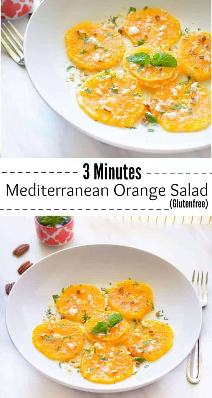 3 Minutes Mediterranean Orange Salad (Glutenfree): #mediterranean #orangesalad #orange #salad #glutenfree