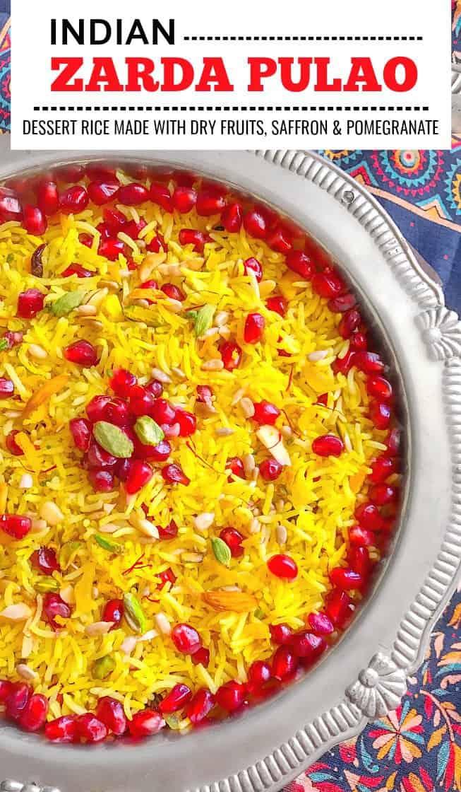 Zarda Pulao Recipe #zarda #pulao #zardapulao #indiandessert