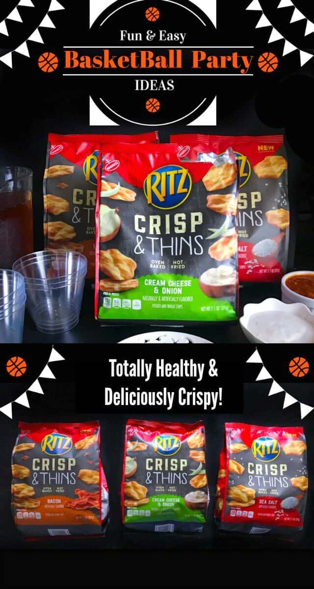 Fun and Easy Basketball Party Ideas: #SnackBracket #CollectiveBias #ad #basketball #Ritz
