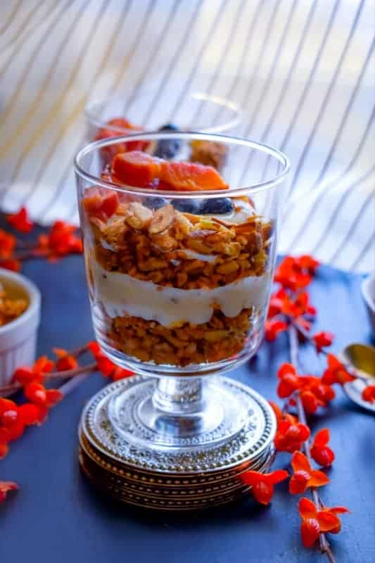 Mango Breakfast Parfait with turmeric