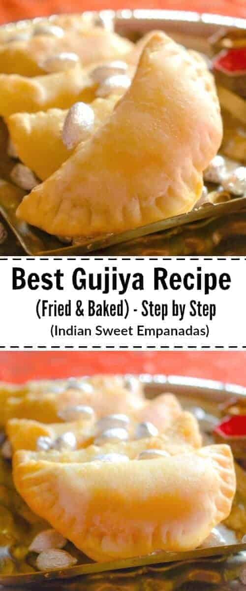Best Gujiya Recipe (Indian Sweet Empanadas - Fried and Baked) : #gujiya #empanadas #indian #holi @easycookin2012