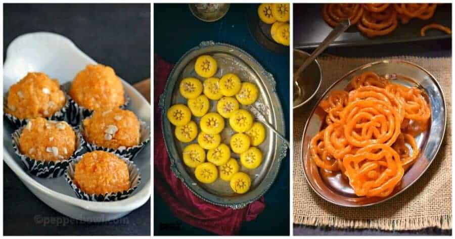 Indian jalebi, motichoor ladoo recipe