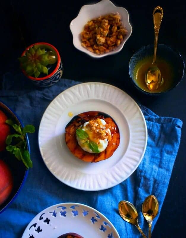 grilled-peaches-breakfast-recipe