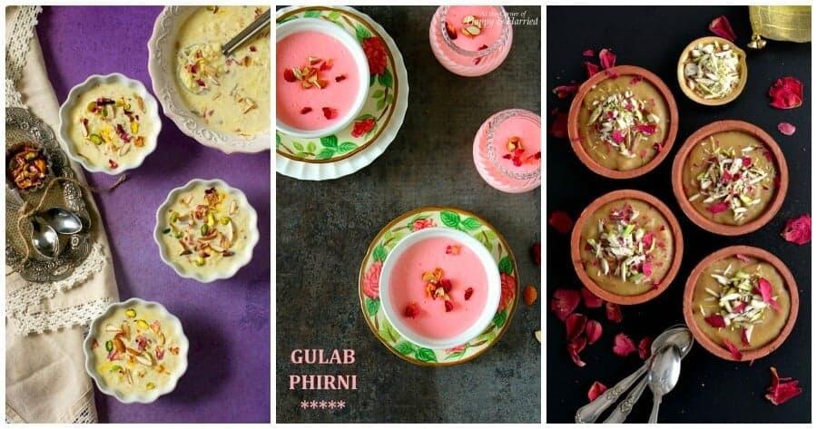 indian dessert kheer recipes like phirni