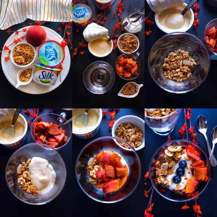 Power Packed Peach Mango Turmeric Breakfast Parfait
