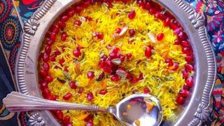 Zarda - Indian Sweet Rice Pilaf with Saffron and Nuts (Zarda Pulao)