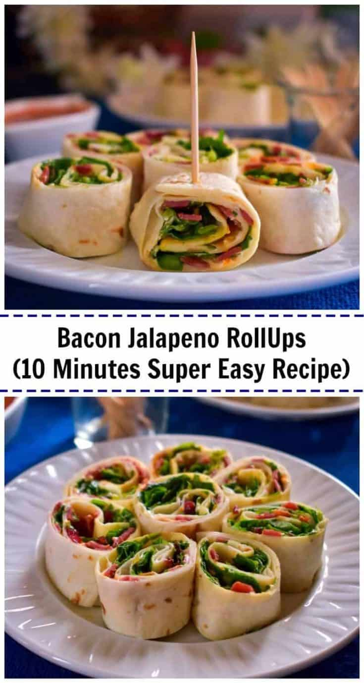 Bacon Jalapeno RollUps (10 Minutes Super Easy Recipe): #SparklingEntertaining #CollectiveBias #ad #bacon #rollups