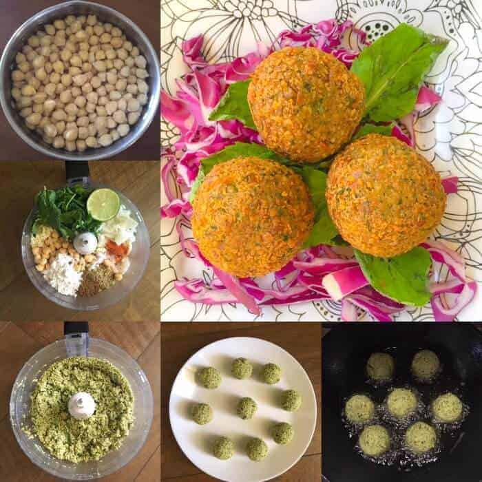 Step by Step Process to make falafel at home
