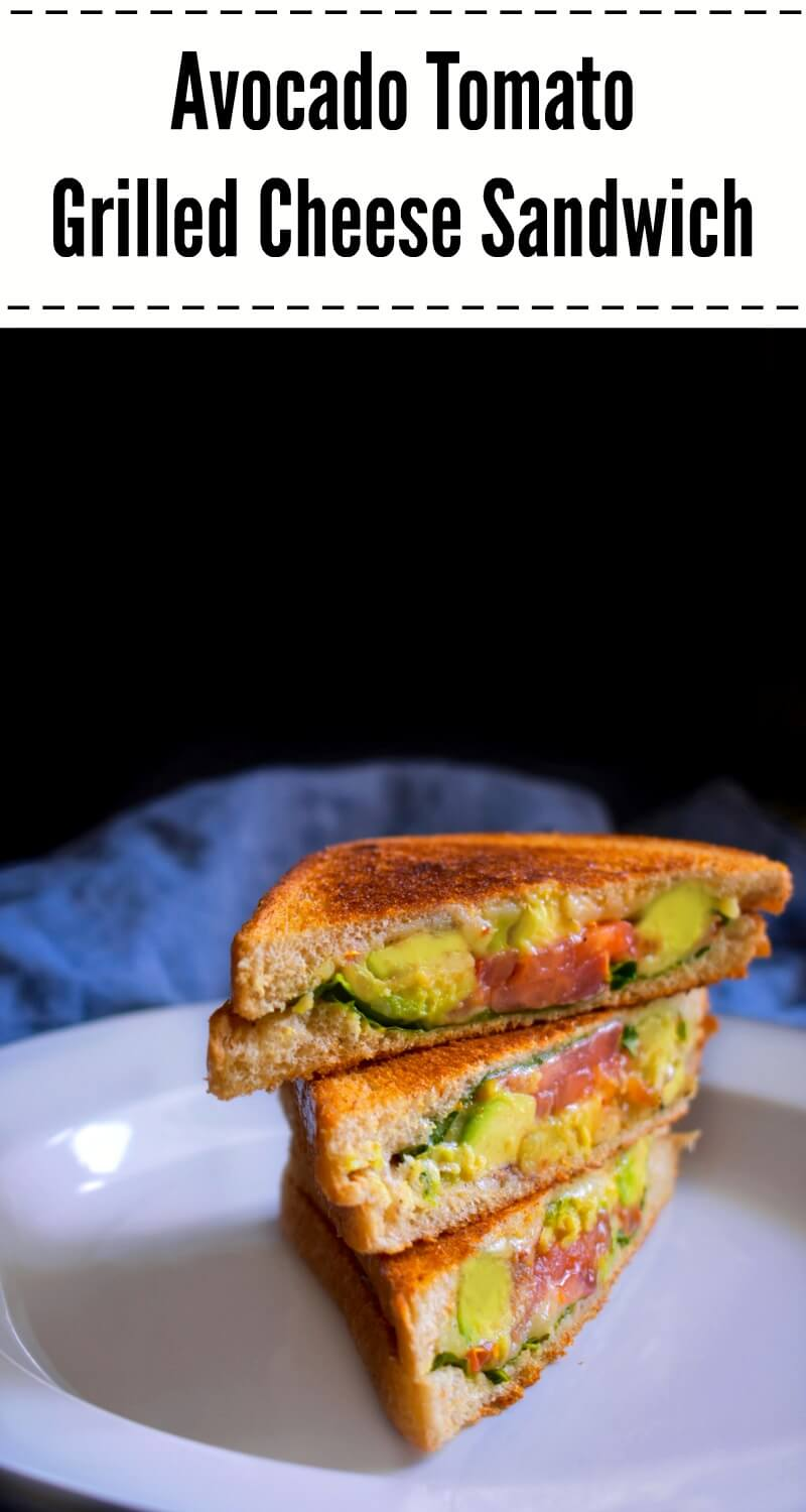 Avocado Tomato Grilled Cheese Sandwich: #grilled #cheese #sandwich #avocado