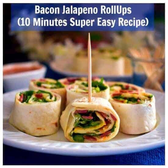 Bacon Jalapeno RollUps (10 Minutes Super Easy Recipe)