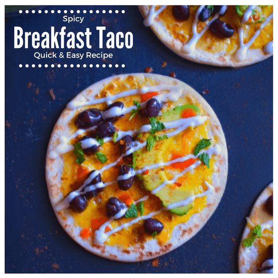 Spicy Breakfast Taco (Quick and Easy Recipe)