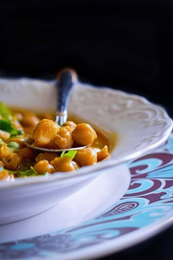 chickpea-curry-recipe #harissa