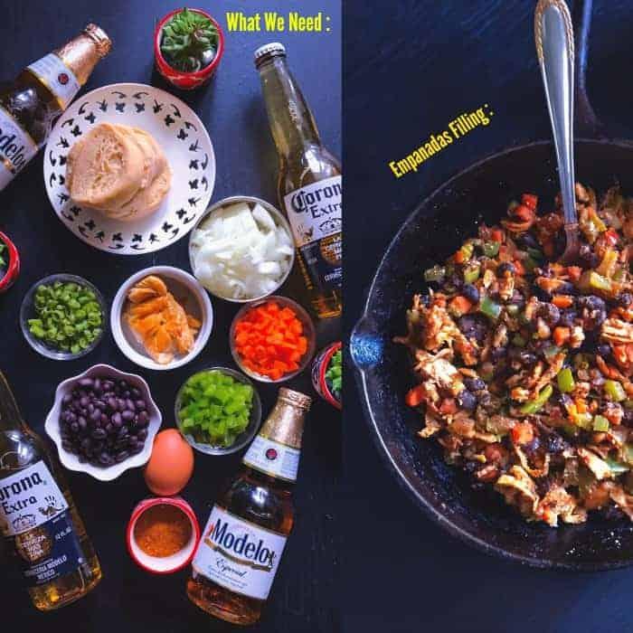 Chipotle Chicken and Black Bean Empanadas Ingredients