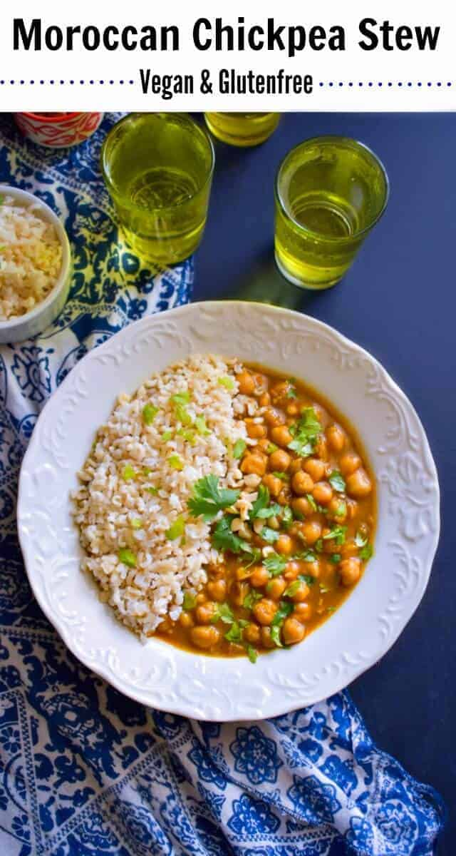 Quick Moroccan Chickpea Stew (Vegan & Glutenfree): #chickpea #moroccan #stew #vegan #glutenfree