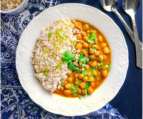 Moroccan Chickpea Stew (Vegan and Glutenfree)