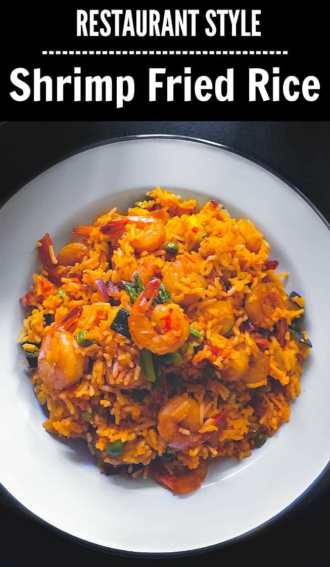 Restaurant Style Shrimp Fried Rice in Sweet-spicy butter sauce