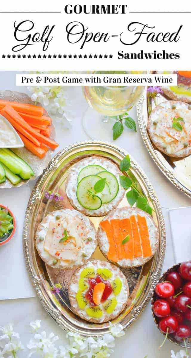 Gourmet Golf Open-Faced Sandwiches: #openfaced #sandwiches #ad #gourmet