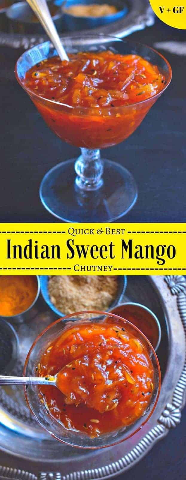 Indian Sweet Mango Chutney Recipe: #mango #mangochutney #chutney #vegan #indian #sweet